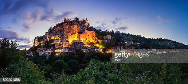 rocamadur - famous historic city in southwest france - rocamadour stock pictures, royalty-free photos & images