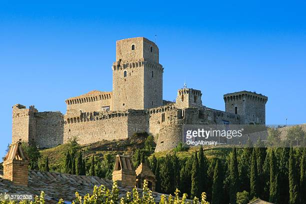 Rocca Maggiore and Blue Sky, Assisi, Umbria, Italy.