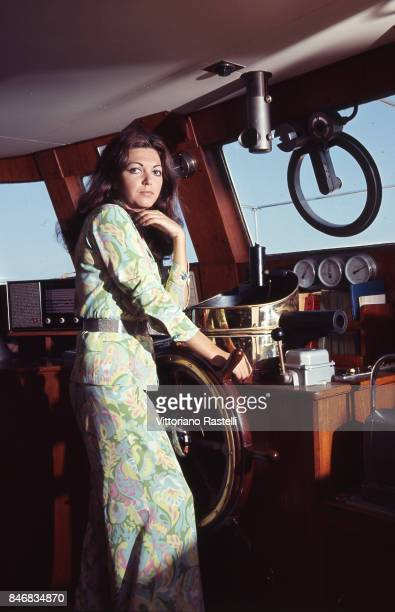 Roccaruja Italy July 1968 The Italian actress Bedy Moratti