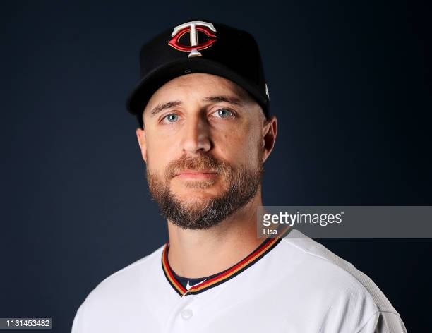 Rocco Baldelli of the Minnesota Twins poses for a portrait during Minnesota Twins Photo Day on February 22 2019 at Hammond Stadium in Fort Myers...