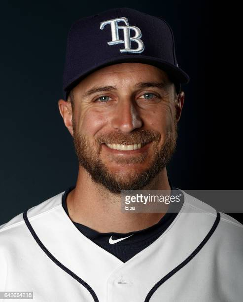 Rocco Baldelli of the Tampa Bay Rays poses for a portrait during the Tampa Bay Rays photo day on February 18 2017 at Charlotte Sports Park in Port...