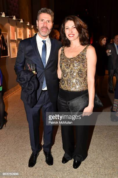 Rocco Basile and Carolina Stavrositu attend BOMB's 37th Anniversary Gala Art Auction at Capitale on April 30 2018 in New York City
