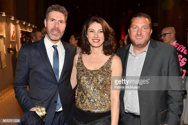 Rocco Basile Carolina Stavrositu and Joe Palermo attend BOMB's 37th Anniversary Gala Art Auction at Capitale on April 30 2018 in New York City