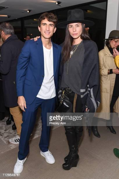 Rocco Basilico and Tasya van Ree attend Oliver Peoples x Tasya van Ree Celebrates Who is Oliver Exhibition at LECLAIREUR on February 13 2019 in Los...