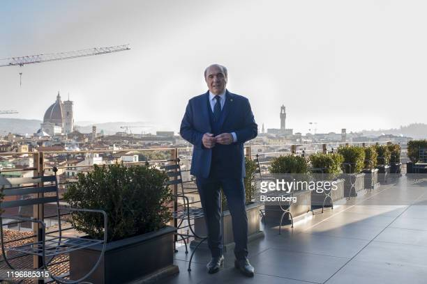Rocco Commisso chief executive officer and founder of Mediacom Communications Corp poses for a portrait in Florence Italy on Sunday Jan 12 2020...
