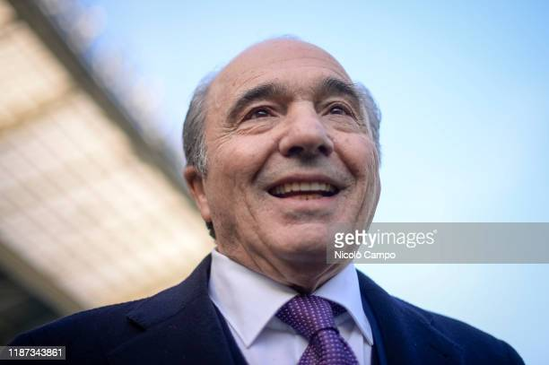 Rocco Commisso owner of ACF Fiorentina looks on prior to the Serie A football match between Torino FC and ACF Fiorentina Torino FC won 21 over ACF...