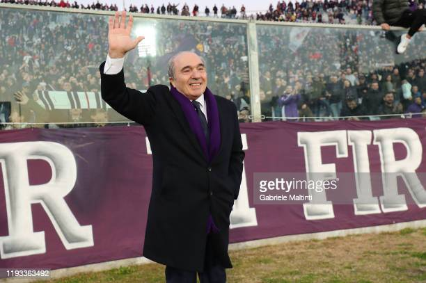Rocco Commisso President of ACF Fiorentina during the Serie A match between ACF Fiorentina and SPAL at Stadio Artemio Franchi on January 12 2020 in...
