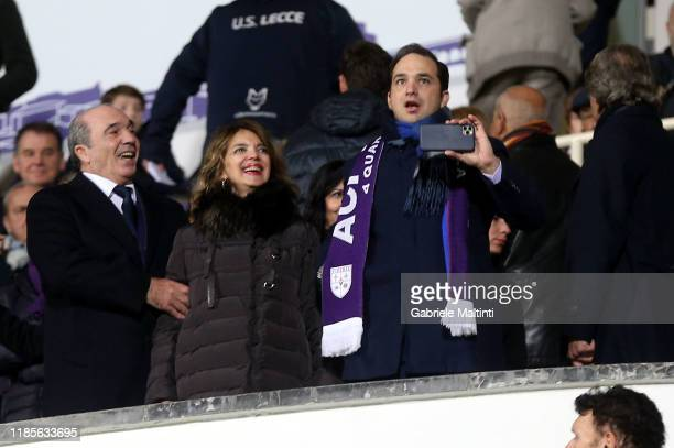 Rocco Commisso president of ACF Fiorentina his wife Catherine Commisso and his son Joseph Commisso during the Serie A match between ACF Fiorentina...