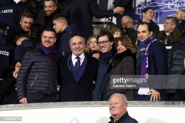 Rocco Commisso president of ACF Fiorentina mayor of Florence Dario Nardella Catherine Commisso and Joseph Commsso during the Serie A match between...