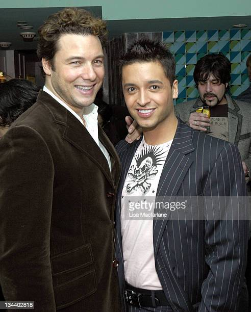 Rocco DiSpirito and Jai Rodriguez during Jai Rodriguez Farewell Party in Celebration of His Final Appearance in Brodway's 'The Producers' at Hipster...