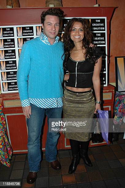 Rocco DiSpirito and Tracey Edmonds during Oprah Winfrey's 'The Color Purple A New Musical' Special Viewing After Party at Victor's Cafe in New York...