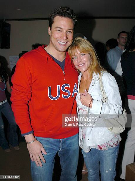 Rocco DiSpirito and Wendy Frank during Pirelli Watches and Hamptons Magazine Host the Golf Classic Party at Cain in Southampton, NY, United States.