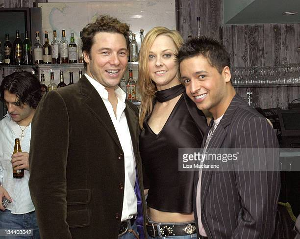 Rocco DiSpirito Angie Schworer and Jai Rodriguez during Jai Rodriguez Farewell Party in Celebration of His Final Appearance in Brodway's 'The...