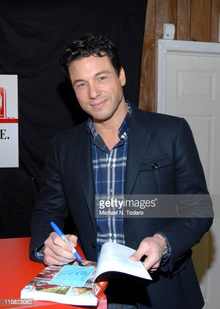 """Rocco Dispirito promotes his new book """"Now Eat This"""" at Bookends Bookstore on March 24, 2011 in Ridgewood, New Jersey."""