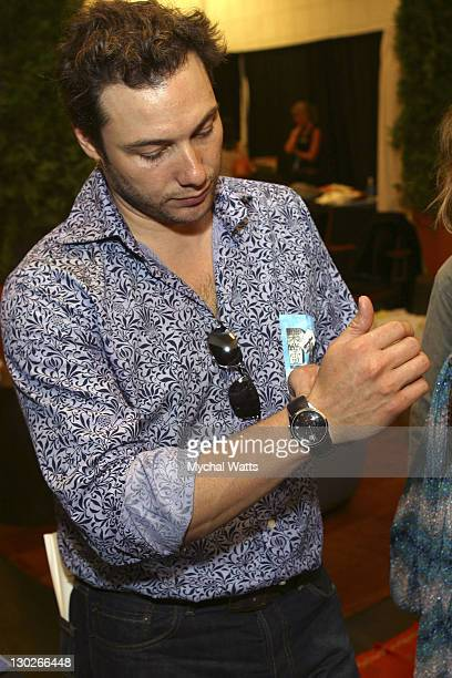 Rocco DiSpirito with a Calvin Klein Watch during 2003 MTV Video Music Awards - Backstage Creations Day 2 at Radio City Music Hall in New York City,...