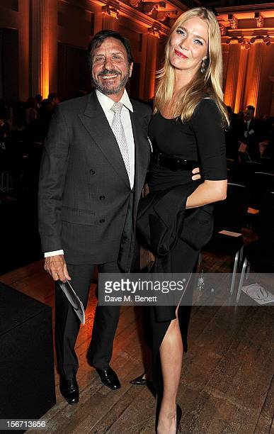 Rocco Forte and Jodie Kidd attend the Walpole Awards for Excellence 2012 celebrating the best in British luxury at Banqueting House on November 19...