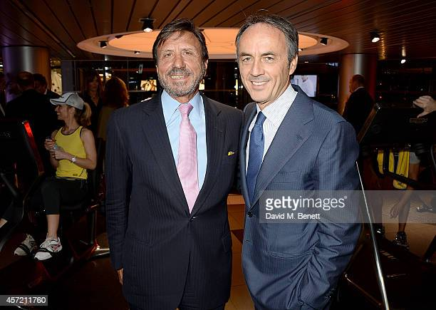 Rocco Forte and Nerio Alessandri attend Technogym McLaren Celebrate 10 Years of Partnership at the McLaren Showroom on October 14 2014 in London...