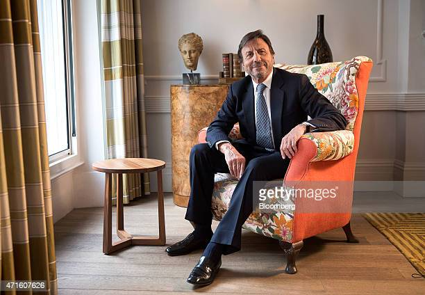 Rocco Forte founder of the Rocco Forte Collection poses for a photograph following a Bloomberg Television interview at Brown's Hotel Forte's luxury...