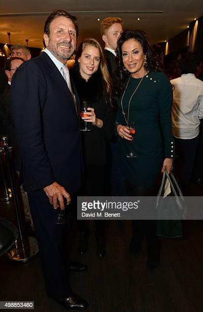 Rocco Forte Nancy Dell'Olioand Lydia Forte attend the Vespa wine presentation hosted by Angelo Galasso and Dylan Jones at the Baglioni Hotel on...