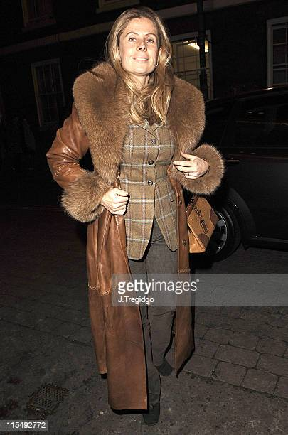 Rocco Forte's Wife during Fiat Punto Launch Party January 19 2006 at The Old Truman Brewery in London Great Britain