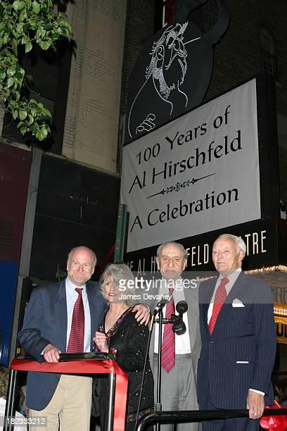 Rocco Landesman Louise Kerz Hirschfeld and Arthur Gelb