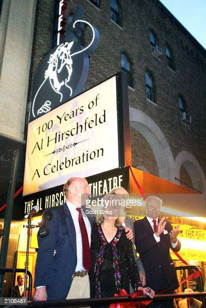 Rocco Landesman Louise Kerz Hirschfeld Arthur Gelb and James Binger attends the 100 Years Of Al Hirschfeld A Celebration memorial and theater...