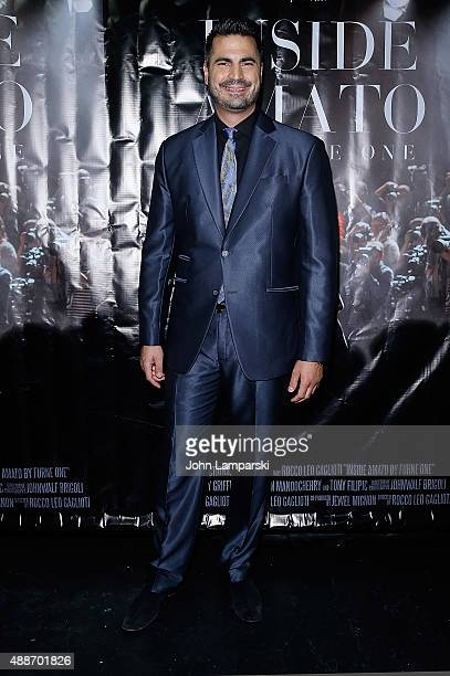 Rocco Leo Gaglioti attends 'Inside Amato' New York premiere at Liberty Theater on September 16 2015 in New York City