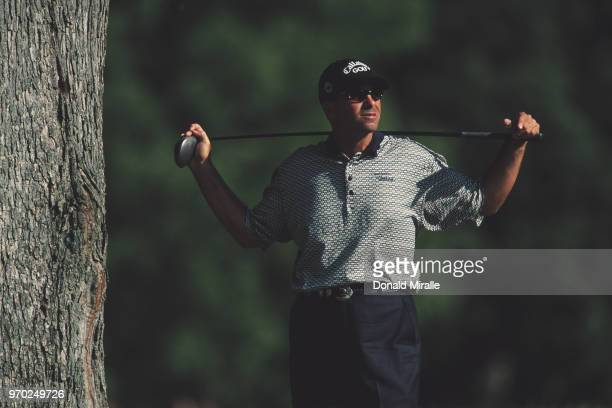Rocco Mediate of the United States during the Buick Open golf tournament on 10 August 2001 at the Warwick Hills Golf and Country Club in Grand Blanc...