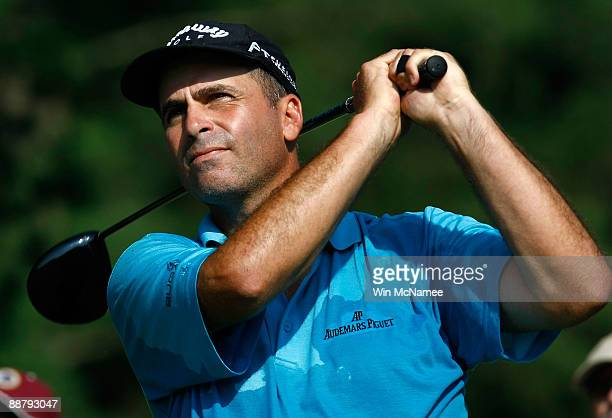 Rocco Mediate tees off on the 9th hole during the first round of the ATT National at the Congressional Country Club on July 2 2009 in Bethesda...