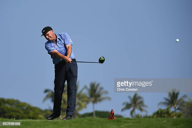 KA'UPULEHUKONA HI JANUARY 19 Rocco Mediate tees off on the second hole during the first round of the PGA TOUR Champions Mitsubishi Electric...