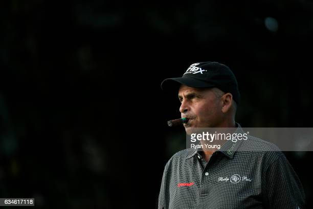 Rocco Mediate walks off the tee of the 16th hole during the first round of the PGA TOUR Champions Allianz Championship at The Old Course at Broken...