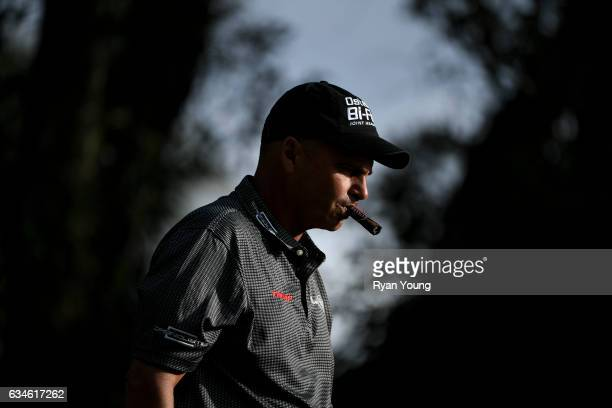 Rocco Mediate walks off the tee on the 18th hole during the first round of the PGA TOUR Champions Allianz Championship at The Old Course at Broken...