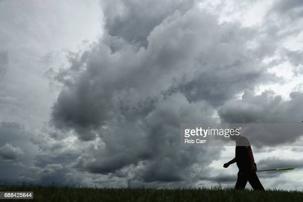 Rocco Mediate walks to the 17th green during Round 1 of the Senior PGA Championship at Trump National Golf Club on May 25 2017 in Sterling Virginia