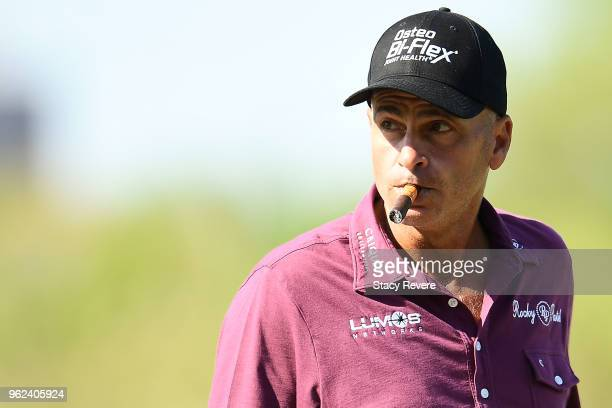 Rocco Mediate walks to the seventh fairway during the second round of the Senior PGA Championship presented by KitchenAid at the Golf Club at Harbor...