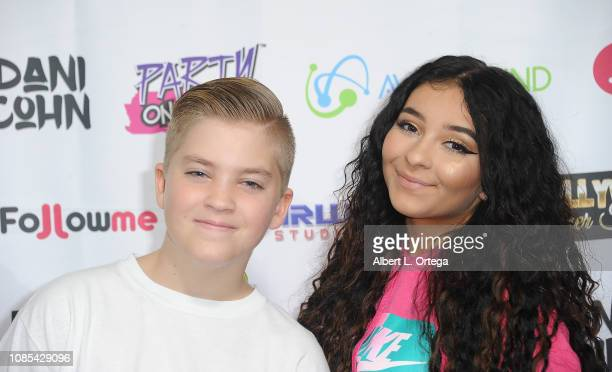 Rocco Piazza and Dani Cohn attend Danielle Cohn's Music Video Release Party For Lights Camera Action held at Starwest Studios on January 19 2019 in...