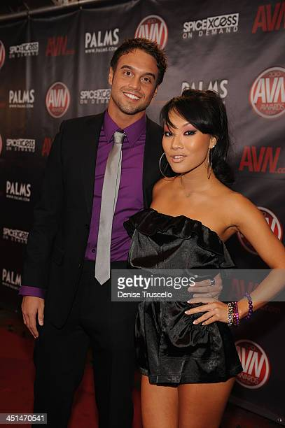 Rocco Reed and Asa Akira arrives at the 2010 AVN Awards at the Pearl at The Palms Casino Resort on January 9, 2010 in Las Vegas, Nevada.