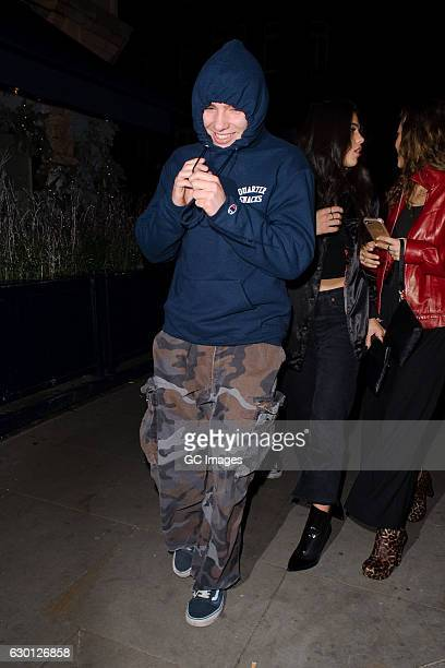 Rocco Ritchie and friends attend the LOVE Magazine Christmas party at George Club on December 16 2016 in London England
