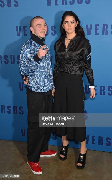 Rocco Ritchie and Kim Turnbull attend the VERSUS show during the London Fashion Week February 2017 collections on February 18 2017 in London England