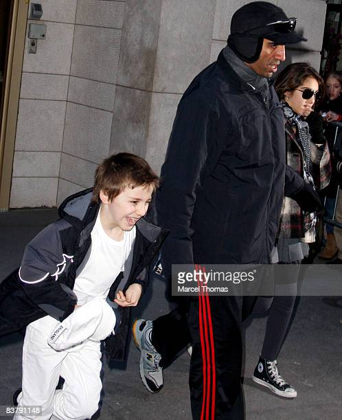 Rocco Ritchie and Lourdes Leon depart the Kabbalah Center on November 22 2008 in New York City