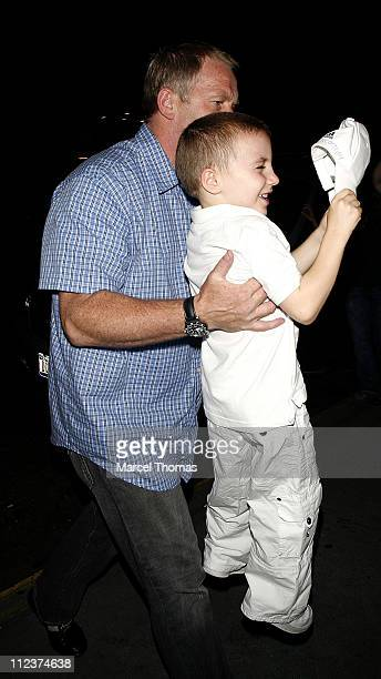 Rocco Ritchie during Madonna and Children Sighting at Kabbalah Services in New York City July 14 2006 in New York New York United States