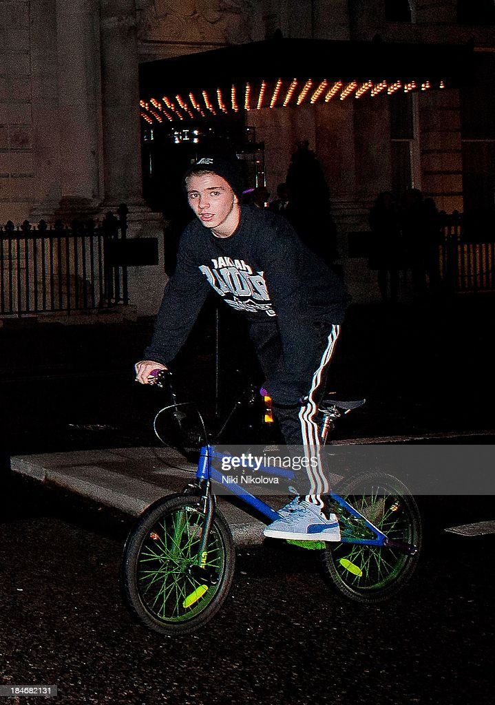 Rocco Ritchie sighted riding a bicycle on October 14, 2013 in London, England.