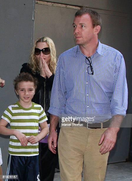 Rocco Ritchie Singer Madonna and husband director Guy Ritchie seen leaving the AMC Loews Lincoln Square Cinema on July 13 2008 in New York City
