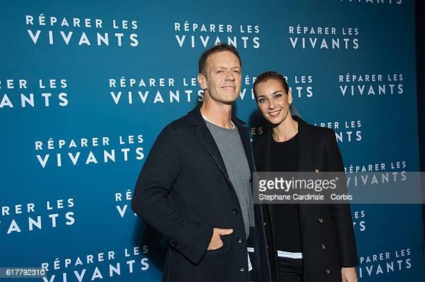 Rocco Siffredi and his wife Rosa Caracciolo attend the Reparer Les Vivants Paris Premiere on October 24 2016 in Paris France