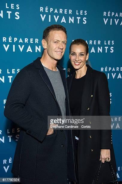 "Rocco Siffredi and his wife Rosa Caracciolo attend the ""Reparer Les Vivants"" : Paris Premiere on October 24, 2016 in Paris, France."