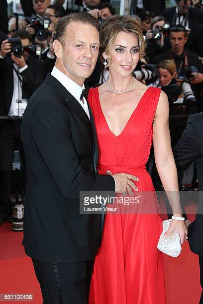 Rocco Siffredi and his wife Rosa Caracciolo attends the 'Money Monster' premiere during the 69th annual Cannes Film Festival at the Palais des...