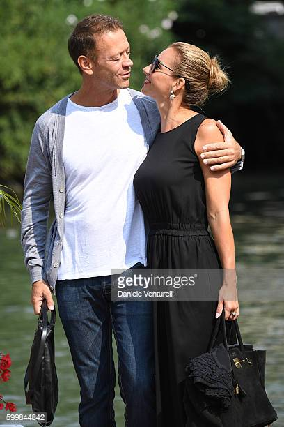 Rocco Siffredi and Rosa Caracciolo are seen during the 73rd Venice Film Festival on September 7 2016 in Venice Italy