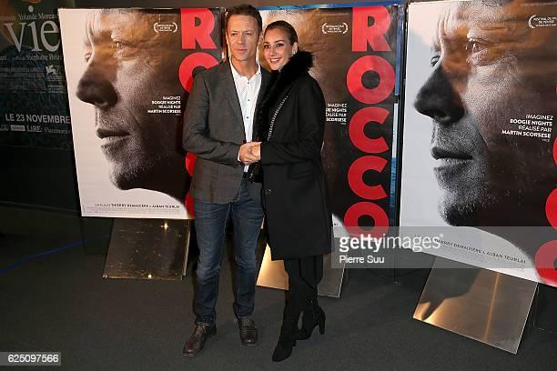 Rocco Siffredi and Rosa Caracciolo attend the Premiere of 'Rocco' at UGC Cine Cite des Halles on November 22 2016 in Paris France