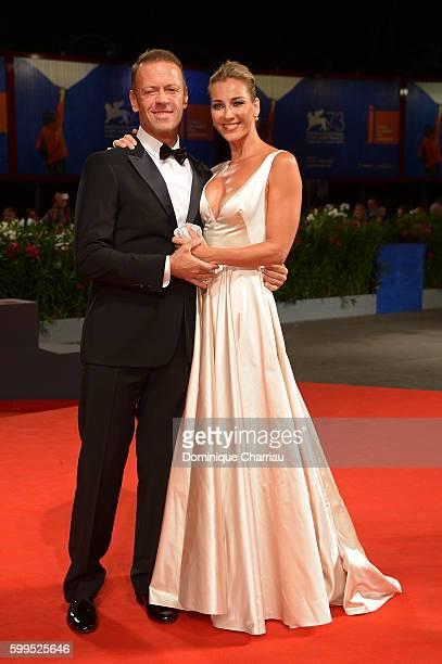 Rocco Siffredi and Rosa Caracciolo attend the premiere of 'Rocco' during the 73rd Venice Film Festival at Sala Perla on September 5, 2016 in Venice,...