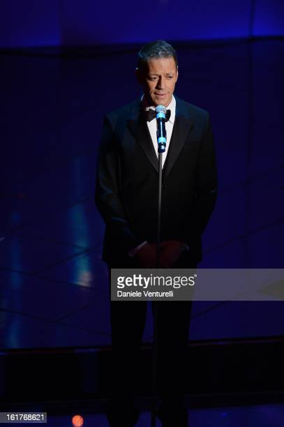 Rocco Siffredi attend the fourth night of the 63rd Sanremo Song Festival at the Ariston Theatre on February 15, 2013 in Sanremo, Italy.