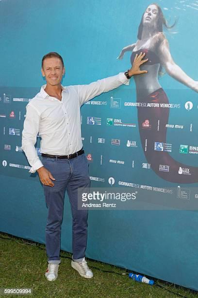 Rocco Siffredi attends a photocall for 'Rocco' during the 73rd Venice Film Festival at Villa degli Autori on September 5 2016 in Venice Italy